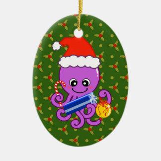 Christmas octopus christmas ornament