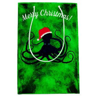 Christmas Octopus - Medium Gift Bag