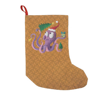 Christmas Octopus Small Christmas Stocking
