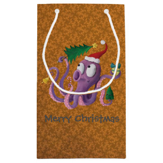 Christmas Octopus Small Gift Bag