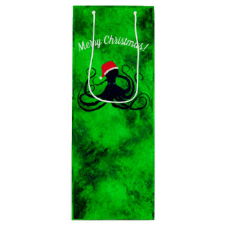 Christmas Octopus - Wine Gift Bag
