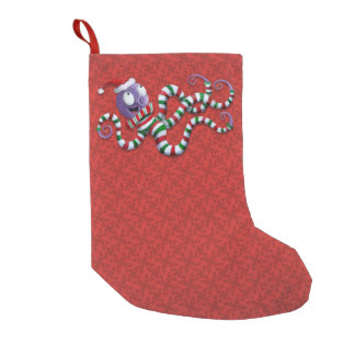 Christmas Octopus with stripes Small Christmas Stocking