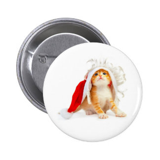 Christmas of cat - pinback button