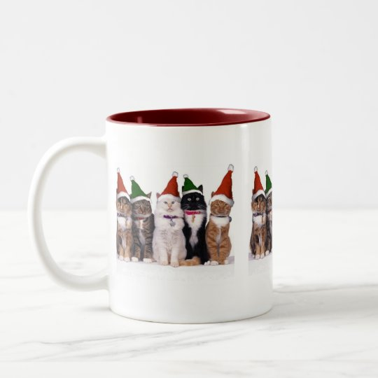 Christmas off cat - Two-Tone coffee mug