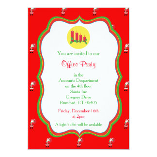 Christmas Office Party Invitation -Candles Graphic