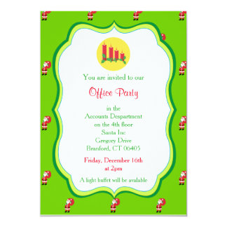 Christmas Office Party Invitation-Candles Graphic 13 Cm X 18 Cm Invitation Card