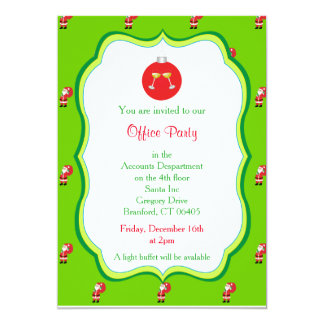 Christmas Office Party Invitation - Drink Graphic