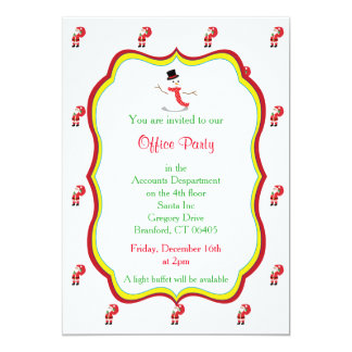 Christmas Office Party Invitation -Snowman Graphic