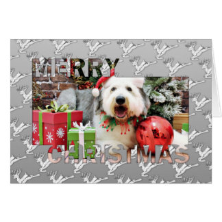 Christmas - Old English Sheepdog - Alphy Cards