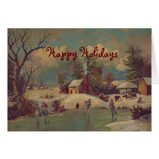 Christmas On The Farm Vintage Greeting Card Zazzle