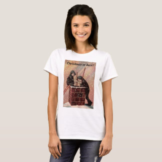 Christmas Or Bust, Boy Chimney Sweep Antique Photo T-Shirt