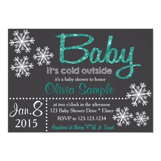 Christmas or Winter Baby Shower Invitation