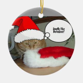 Christmas Orange Tabby Cat Christmas Ornament