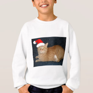 Christmas Orange Tabby Cat Sweatshirt