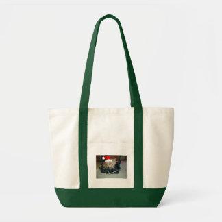 Christmas Orange Tabby Kitten Canvas Bag