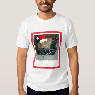 Christmas Orange Tabby Kitten Tee Shirts