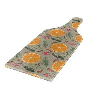 Christmas Orange Wreath Print Cutting Board