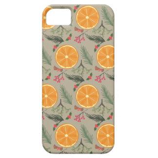 Christmas Orange Wreath Print iPhone 5 Cover