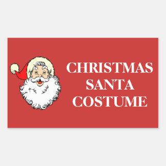 Christmas Organizing Labels - Santa Costume