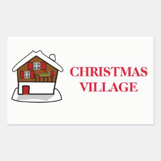 Christmas Organizing Labels - Village