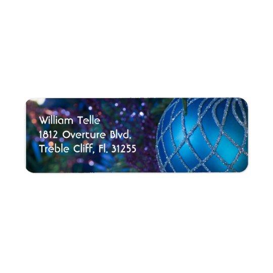 Christmas Ornament 1 Return Address Label