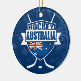 Christmas Ornament Australian Ice Hockey Flag