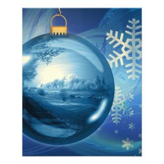 Christmas Ornament Ball Evening Advent Blue Flyers