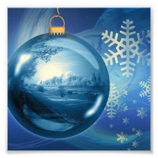 Christmas Ornament Ball Evening Advent Blue Photo