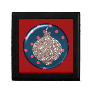 Christmas Ornament Ball Tile giftbox Small Square Gift Box