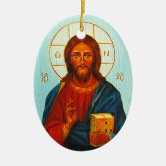 Christmas Ornament, Christ Pantocrator Christmas Ornament