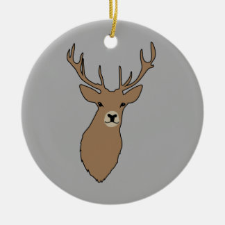 Christmas Ornament Cyril the Stag Grey