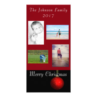 Christmas Ornament Greeting Red Personalize It Card