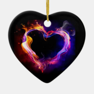 **CHRISTMAS ORNAMENT** HEART ON FIRE CHRISTMAS ORNAMENT