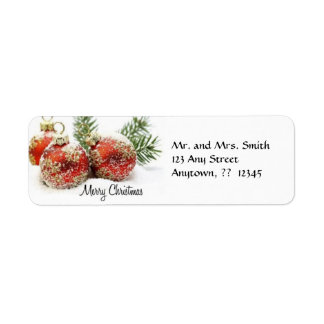 Christmas Ornament Label