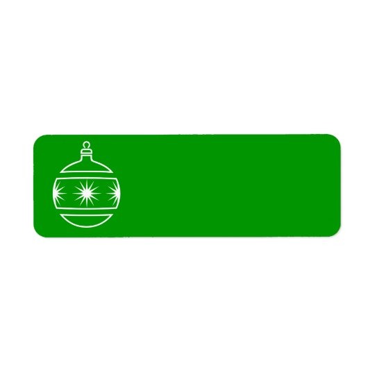 Christmas Ornament Label Return Address Label