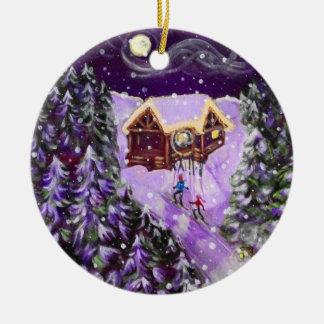 Christmas Ornament - Lantern Ski