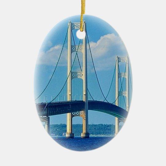Christmas Ornament Mackinac Bridge