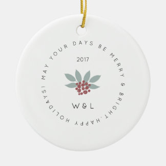 Christmas ornament | Merry & Bright | Berries