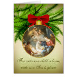 Christmas Ornament Nativity Jesus Birth Greeting Card