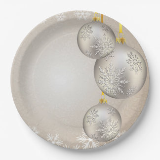 Christmas Ornament Paper Plate