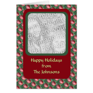 Christmas Ornament Photo Frame Greeting Card