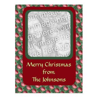 Christmas Ornament photo frame Post Card