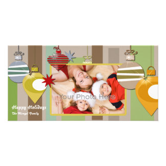 Christmas ornament photocard personalized photo card