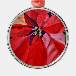 Christmas Ornament Poinsettia Round