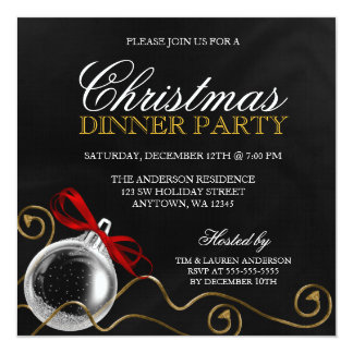 Christmas Dinner Invitations & Announcements | Zazzle.co.uk
