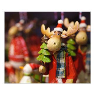 Christmas ornament Santa Claus Moose Photo Art