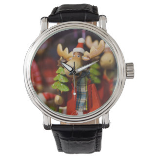 Christmas ornament Santa Claus Moose Wrist Watches