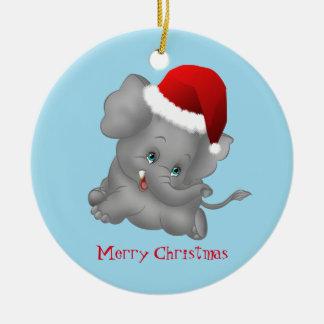 Christmas Ornament-Santa Elephant Christmas Ornament