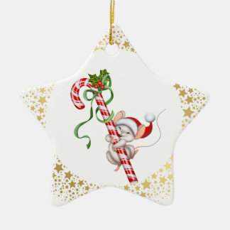 Christmas Ornament-Santa Mouse Christmas Ornament