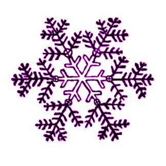 Christmas Ornament Snowflake 2 Magenta Photo Sculpture Decoration